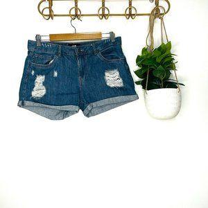 Dotti Denim Distressed Shorts Size 10